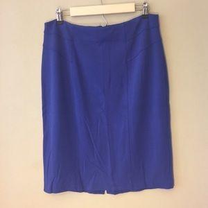 Chico's Blue Seamed Ponte Pencil Skirt